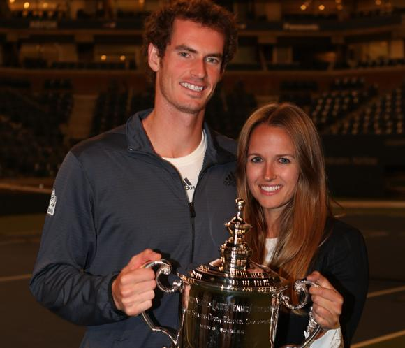 Andy Murray celebra su triunfo en el Abierto de Estados Unidos con su novia, Kim Sears