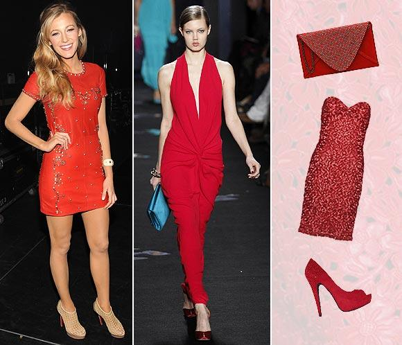 'Looks' de fiesta: 'Sexy' y sofisticada en rojo
