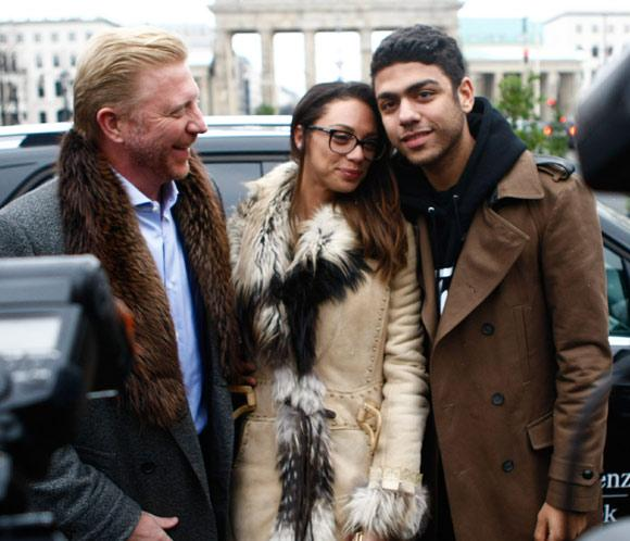 Boris Becker acude a la Semana de la Moda de Berl&iacute;n, junto a su mujer, Lilly y su hijo Noah