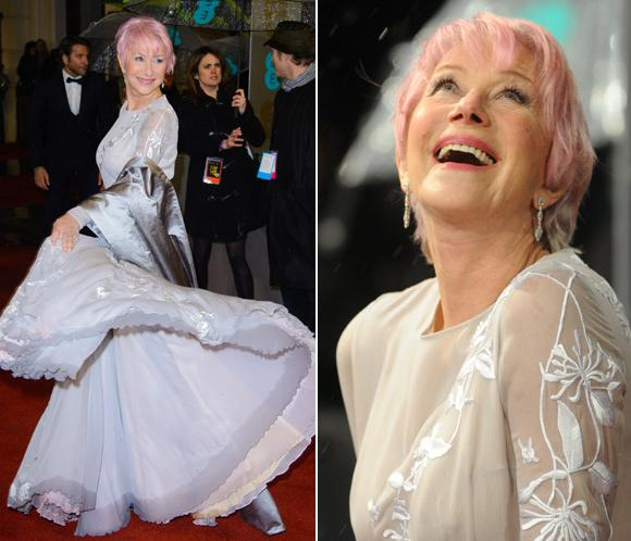 Helen Mirren sorprende en los Bafta con el pelo rosa