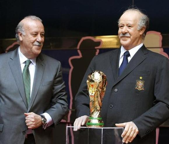 El seleccionador Vicente del Bosque ya tiene su figura de cera